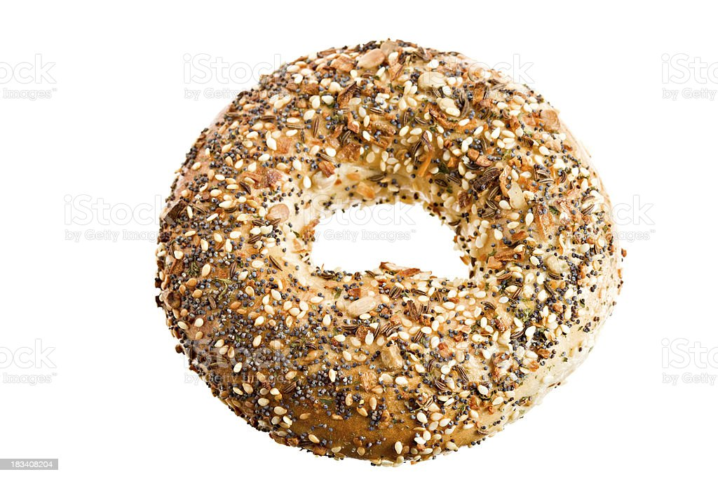 Seeded Bagel Isolated stock photo