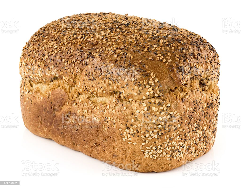 Seeded loaf of bread stock photo