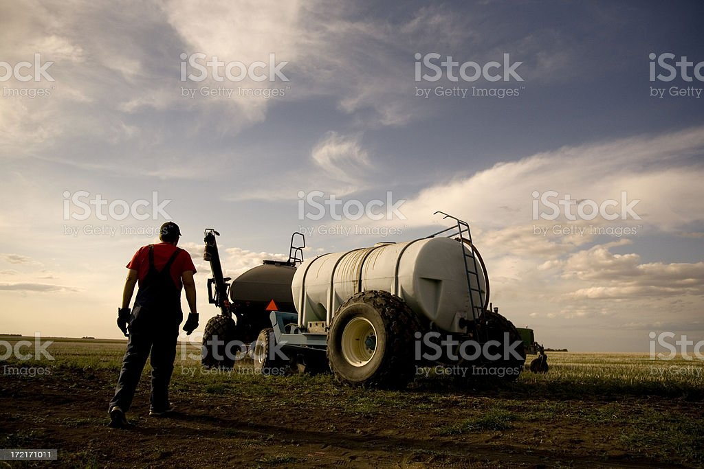 Seeding in Saskatchewan royalty-free stock photo