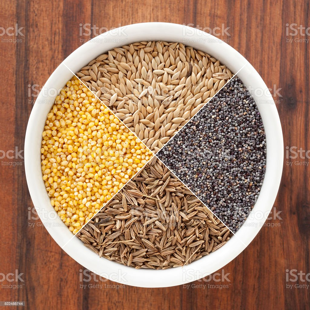 Seeds composition stock photo