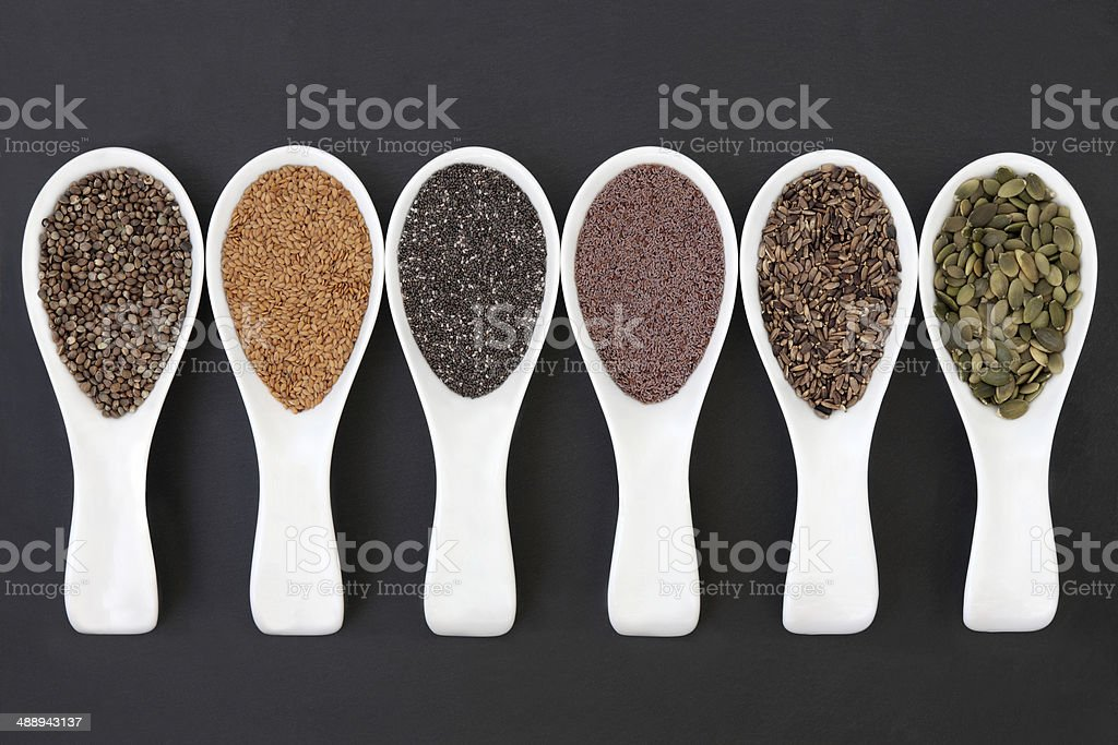 Seeds in Scoops stock photo