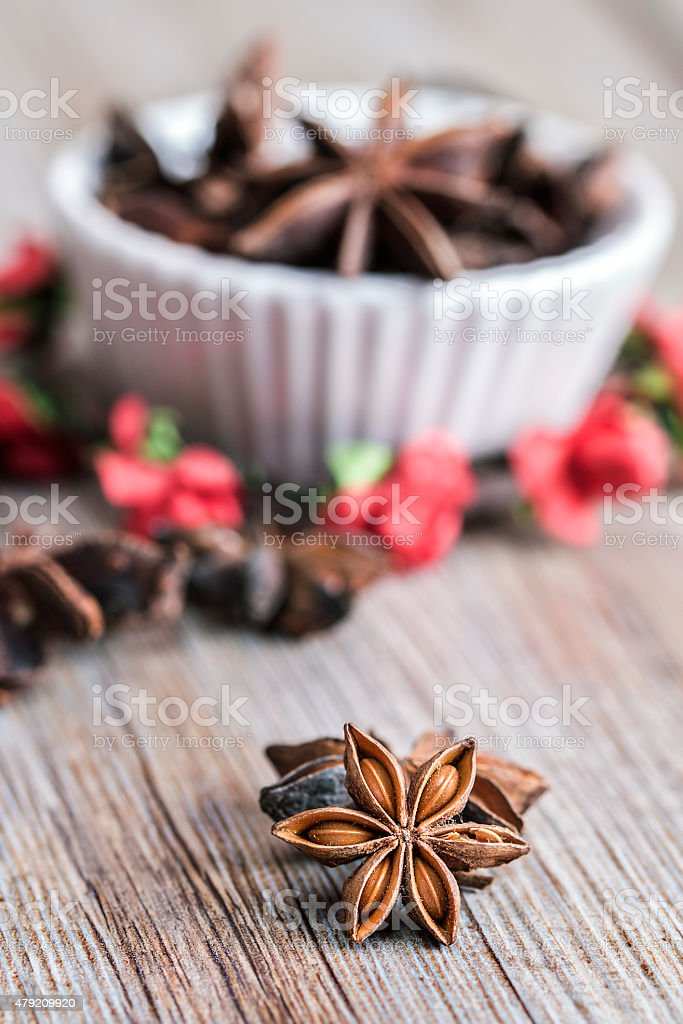 Seeds of star anise stock photo