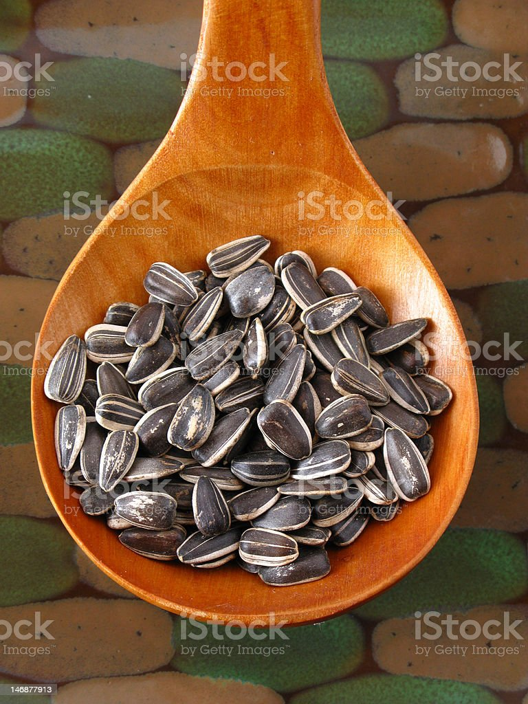 Seeds of sunflower royalty-free stock photo