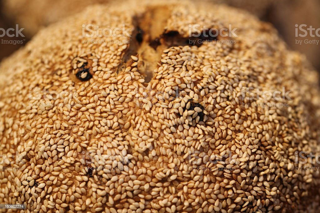 Seeds on Bread royalty-free stock photo