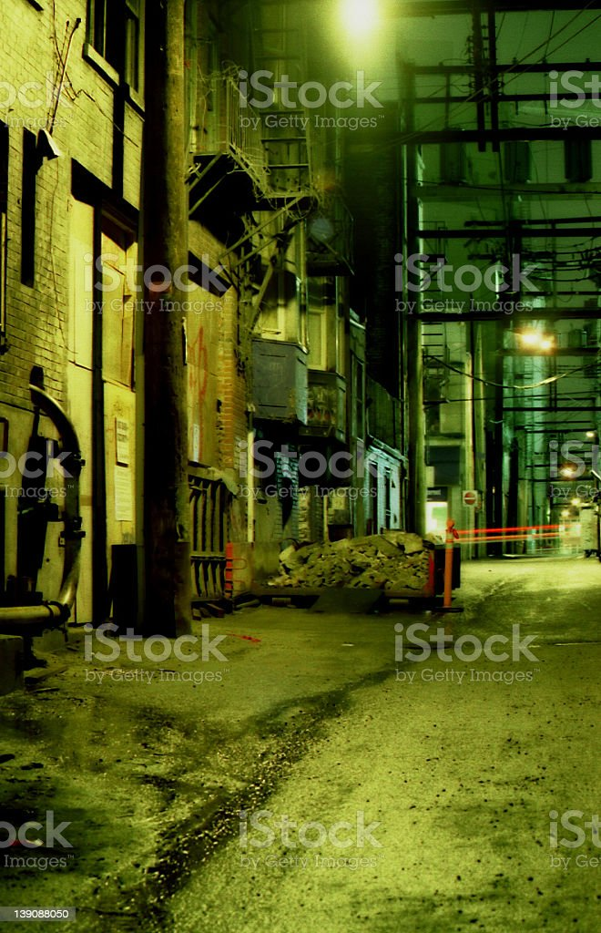 Seedy Back Alley royalty-free stock photo