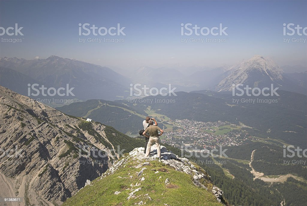 Seefelder Spitze in the Alps royalty-free stock photo