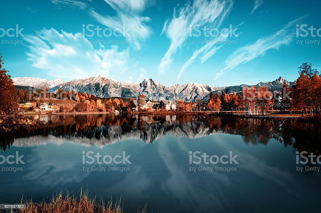 Seefeld Tirol stock photo