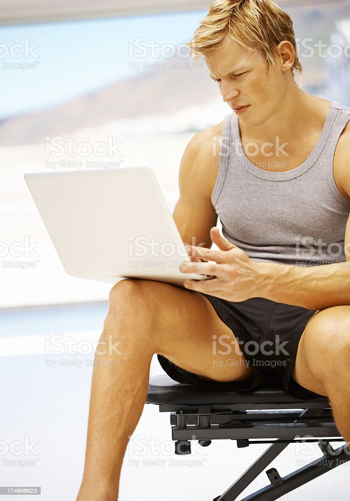 Seeing if his technique is correct - Exercise royalty-free stock photo