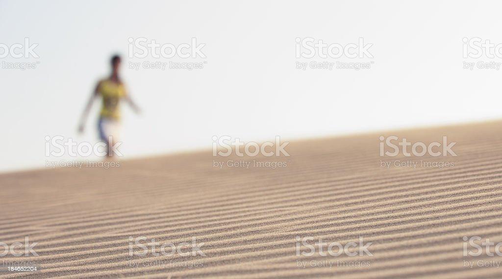 Seeing  Illusion on desert stock photo