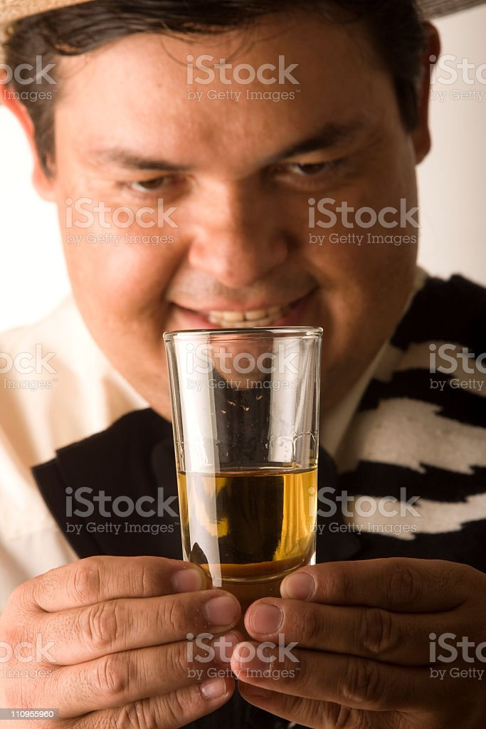 Seeing Tequila royalty-free stock photo