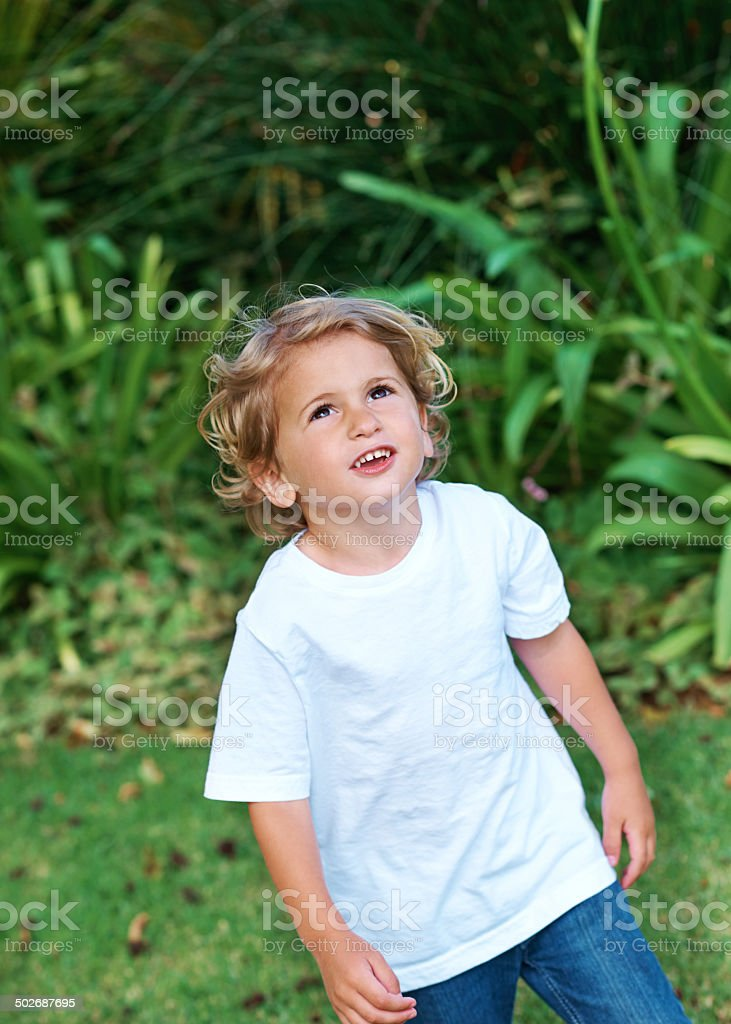 Seeing the world through childish wonder royalty-free stock photo