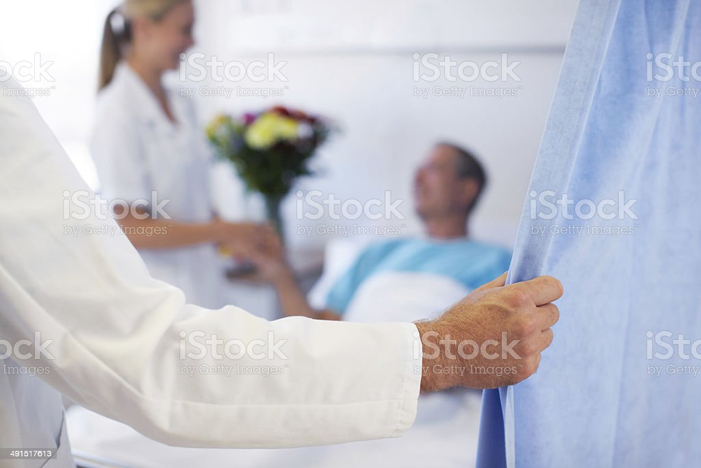 Seeing to a patient stock photo
