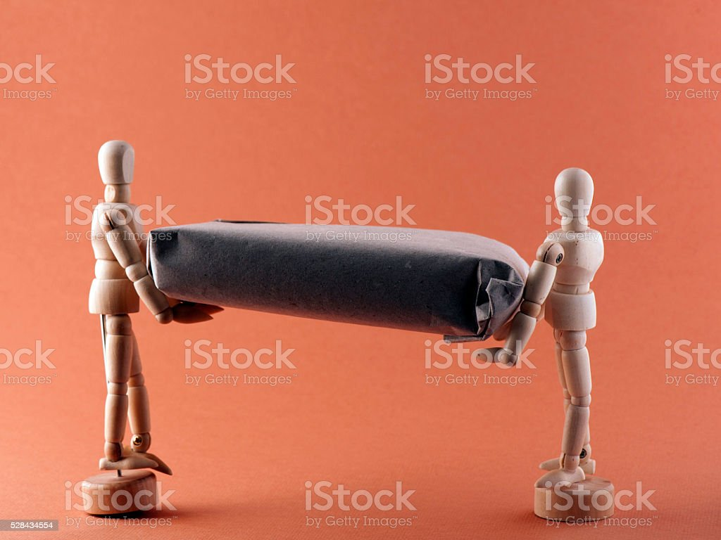 Seek Help and Cooperation stock photo