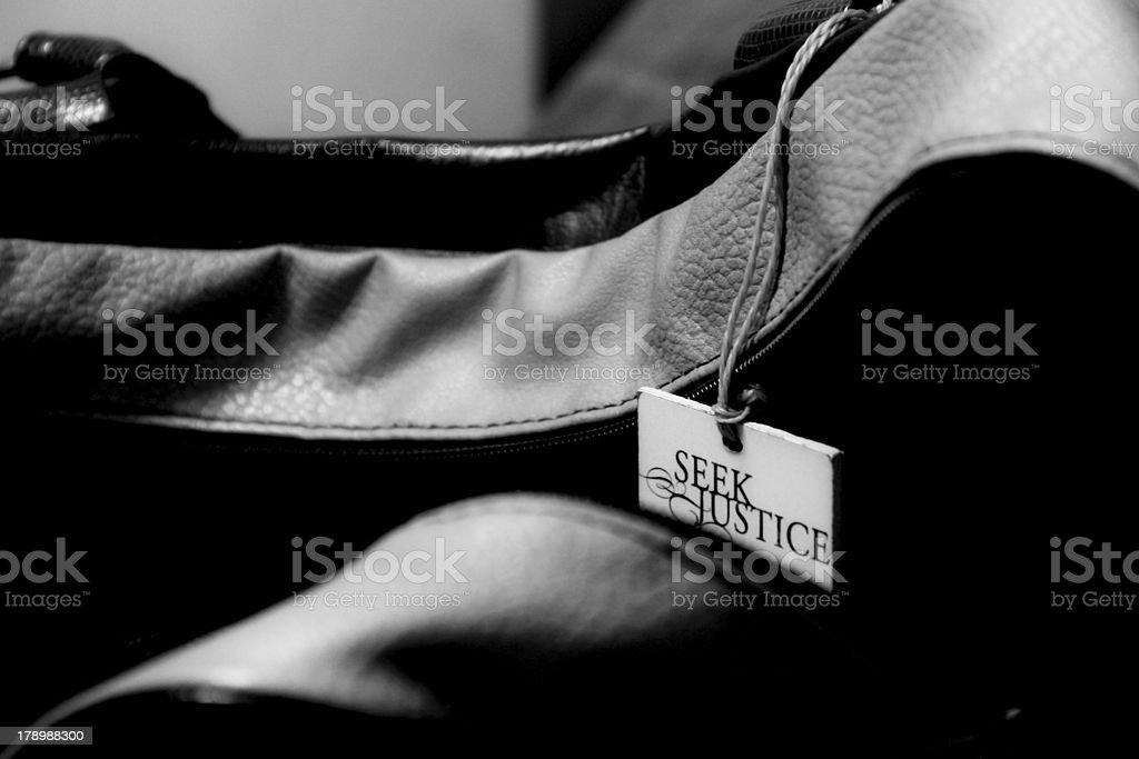 Seek Justice royalty-free stock photo