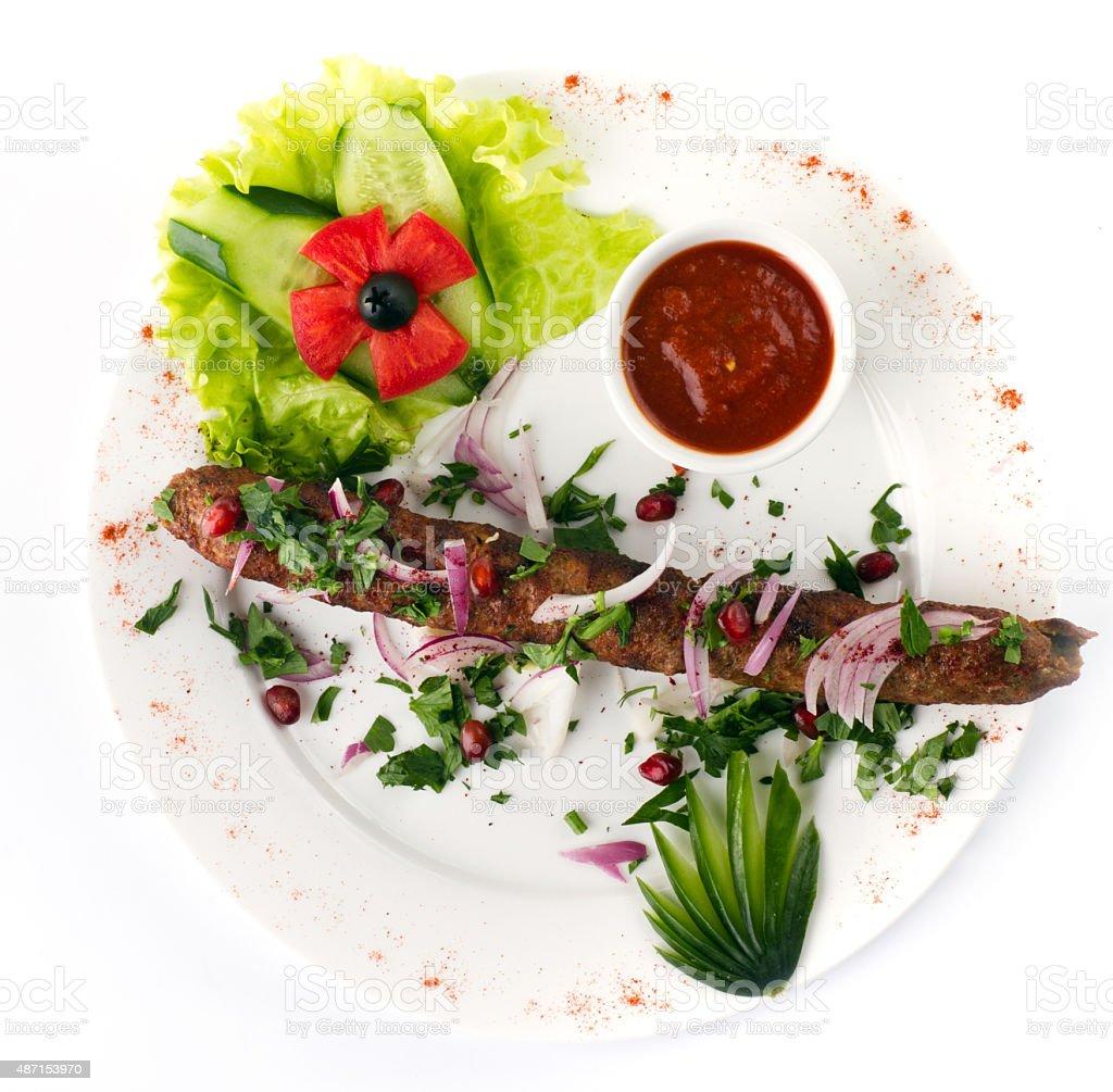 Seekh Kabab stock photo