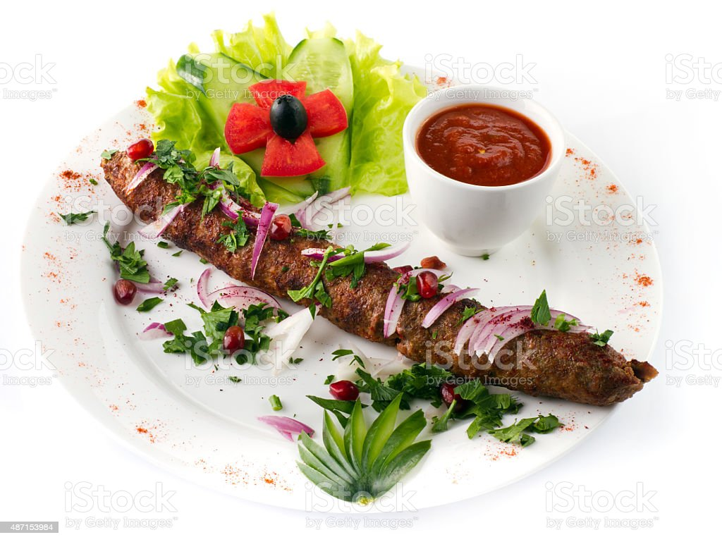 Seekh Kabab stock photo