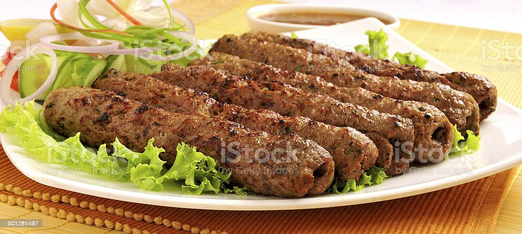 Seekh Kabab-7 stock photo