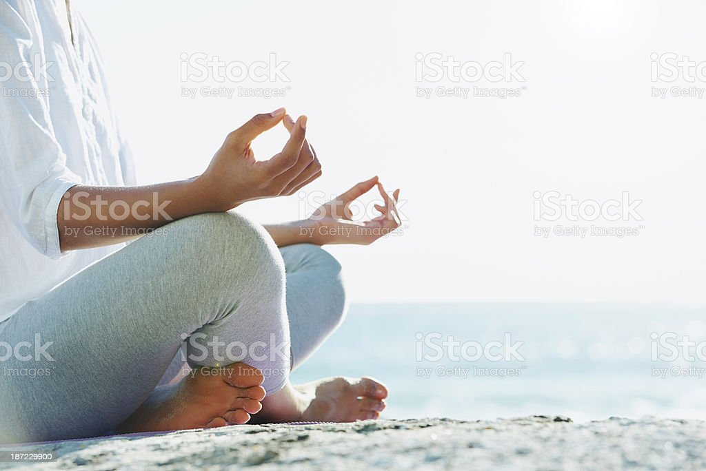 Seeking inner peace stock photo