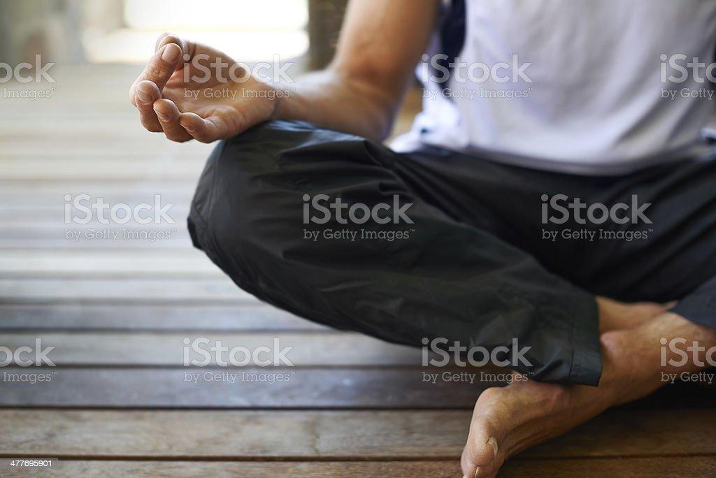 Seeking serenity stock photo