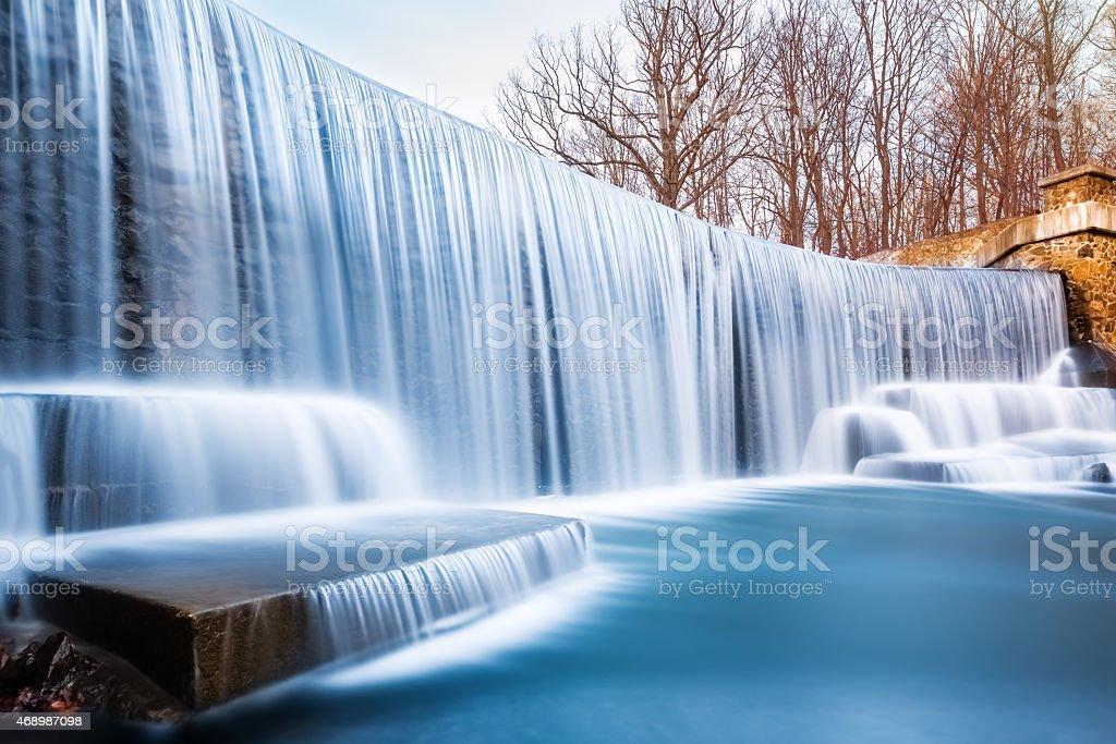 Seeley's Pond waterfall stock photo