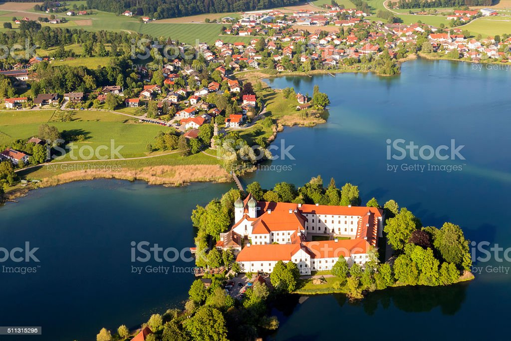 Seeon abbey - arial view stock photo
