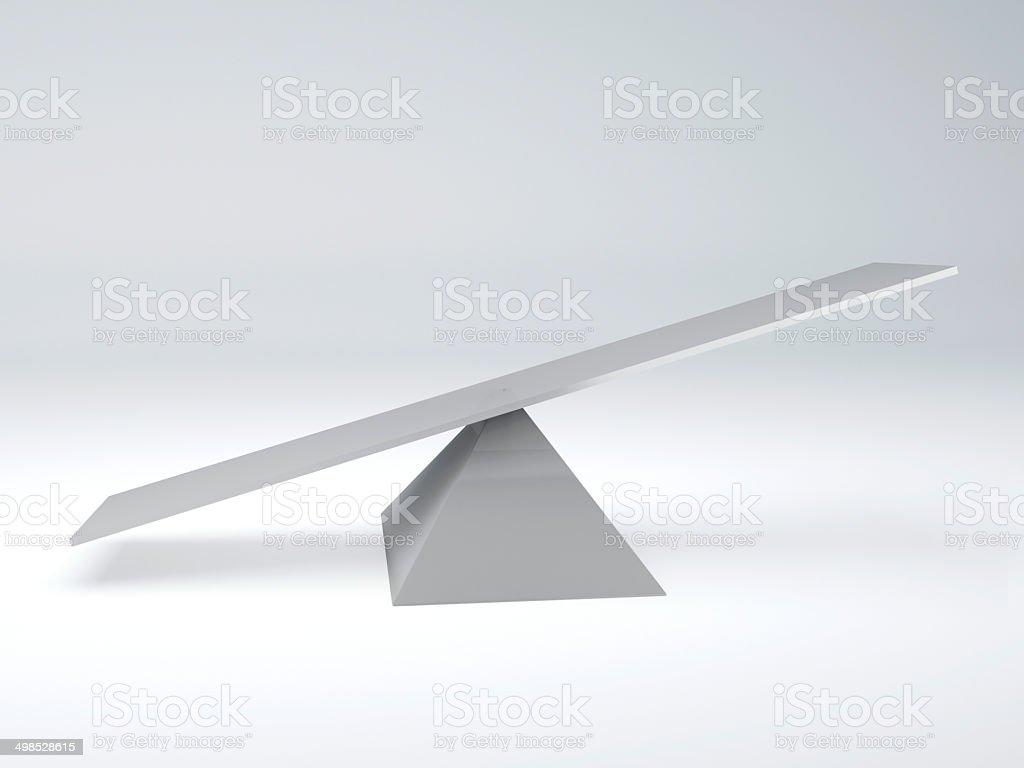 seesaw. Balance concept stock photo