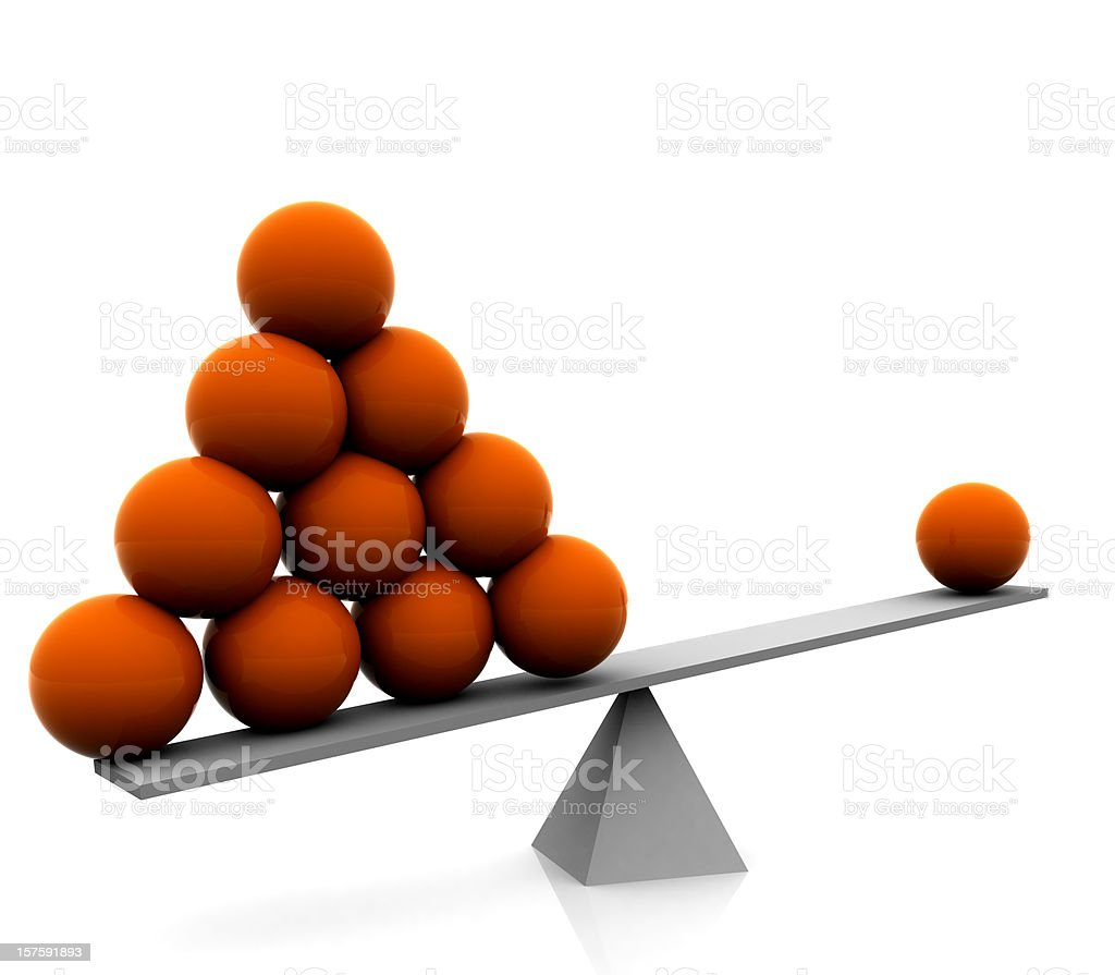 Seesaw, Balance, Sphere Concept royalty-free stock photo