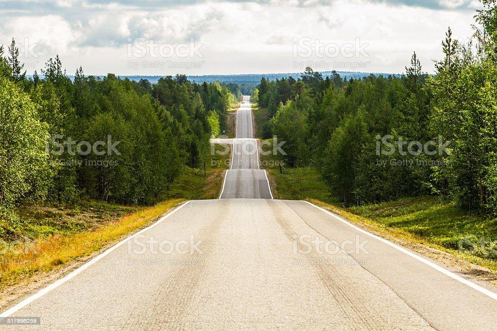 Seesaw road - Norway stock photo