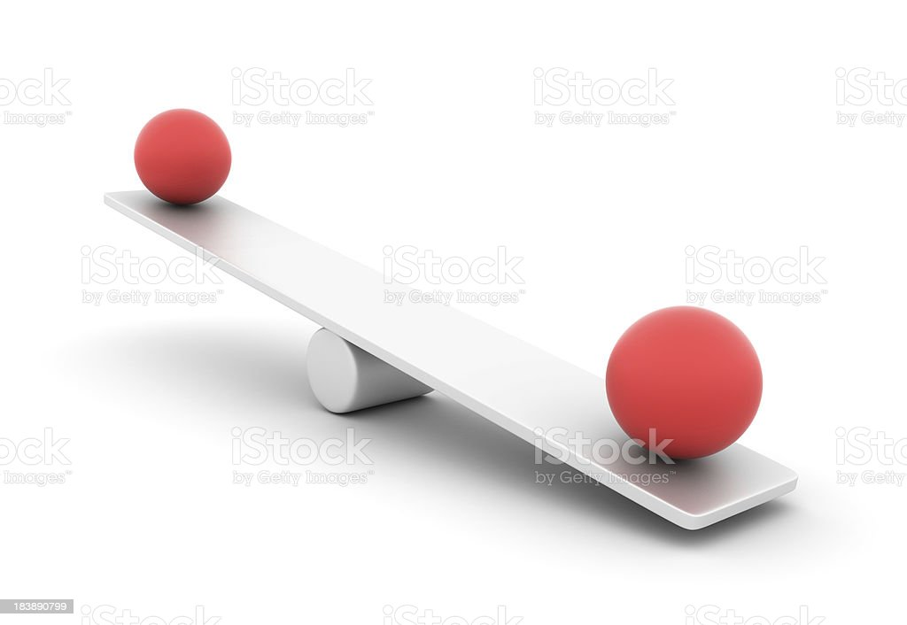 Seesaw with Spheres royalty-free stock photo
