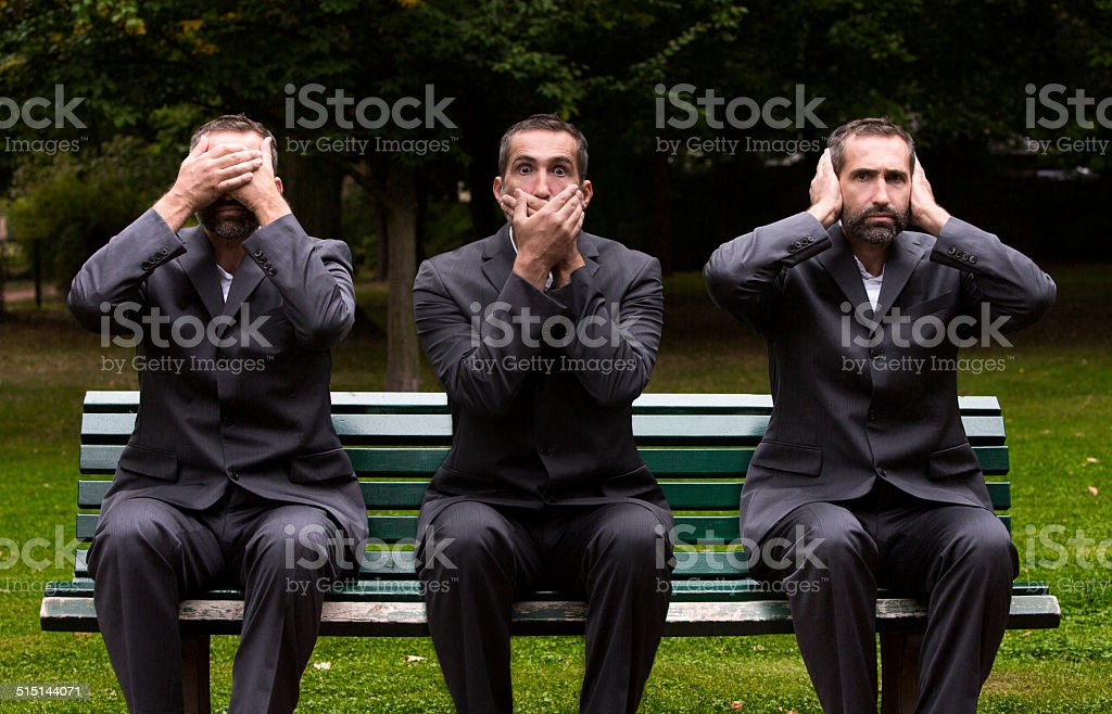 see,speak,hear no evil stock photo