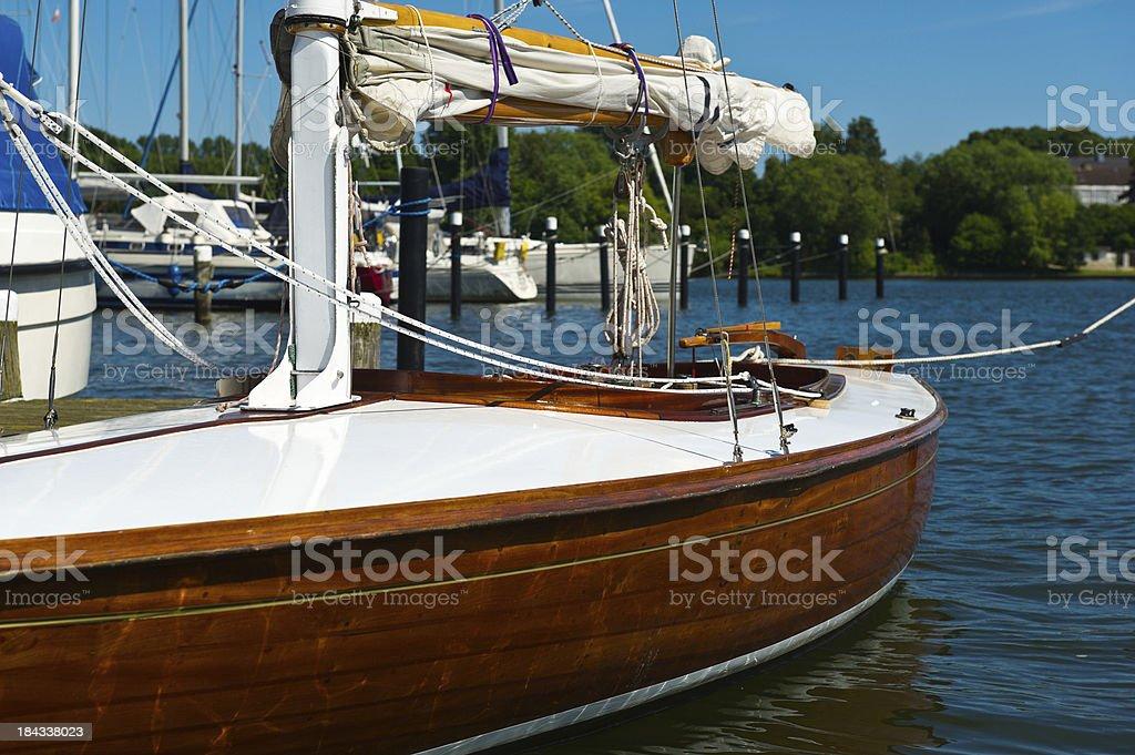 Segelboot an der Schlei stock photo
