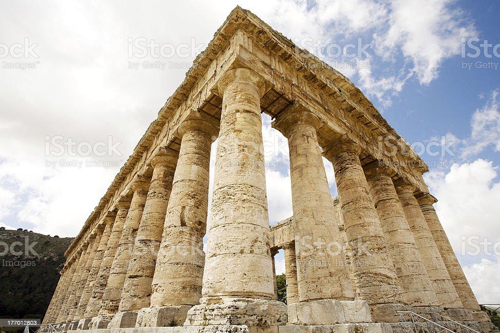Segesta ancient Greek temple stock photo