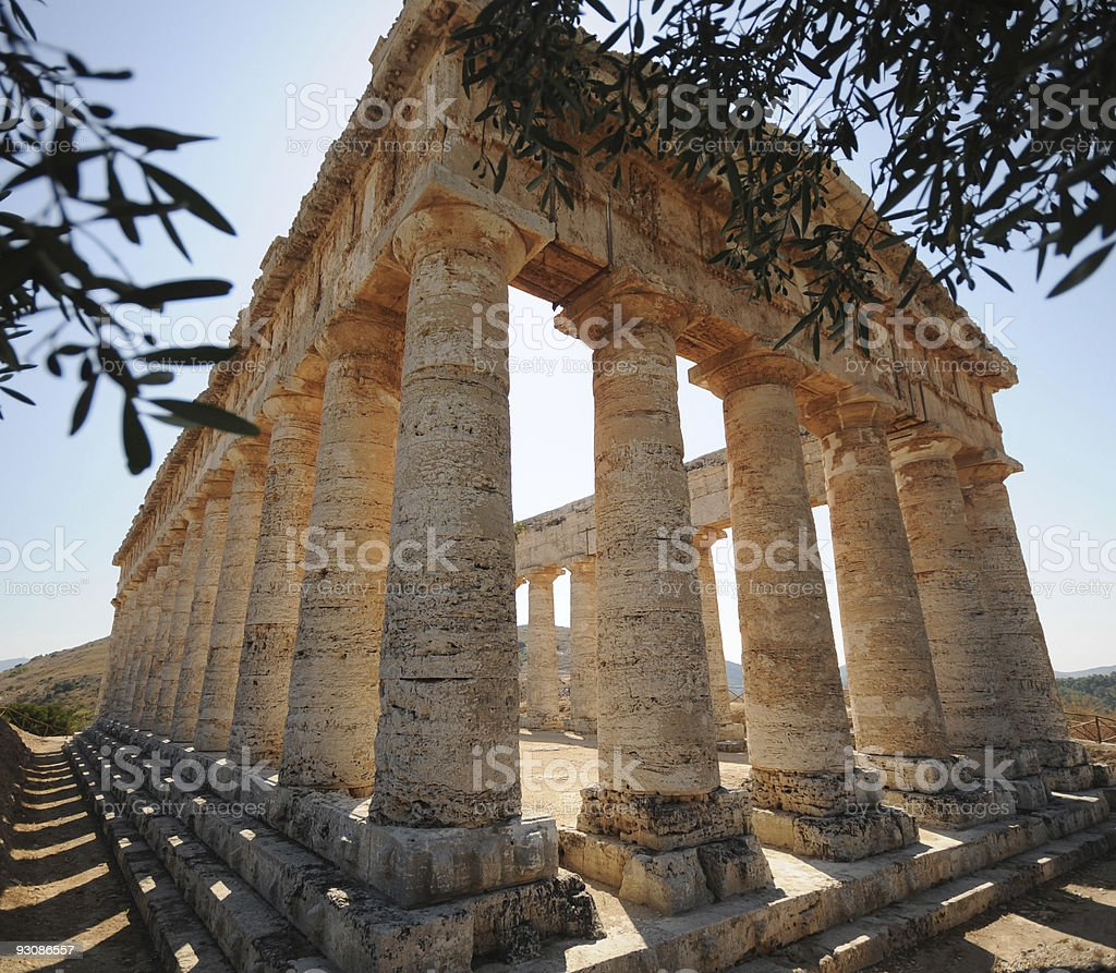 Segesta Tempio Greco stock photo