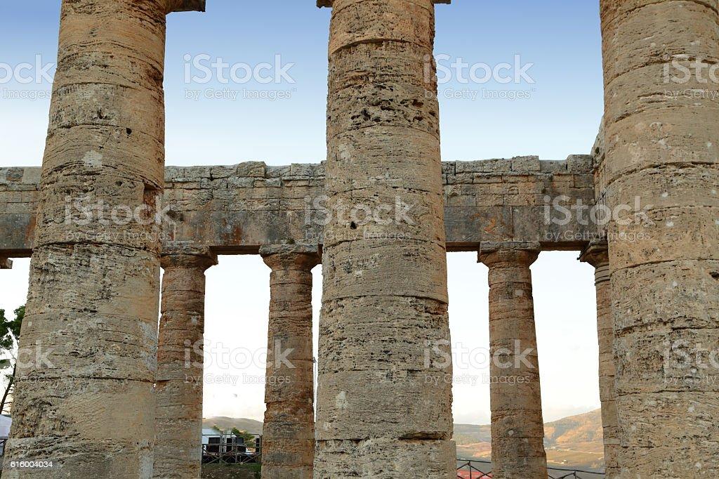 Segesta (Sicily) stock photo