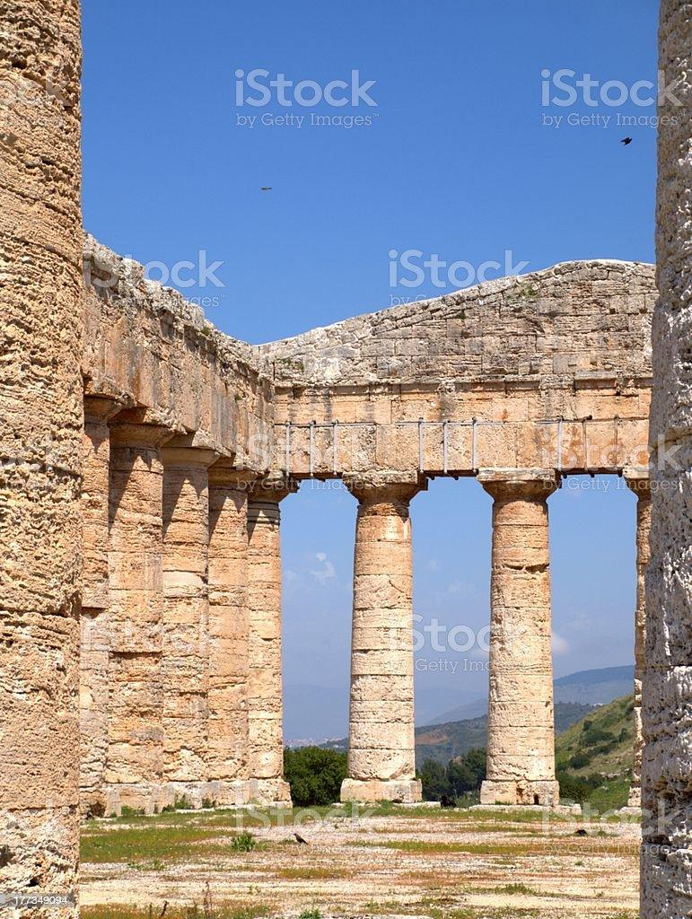 'Segesta, the Greek temple' stock photo