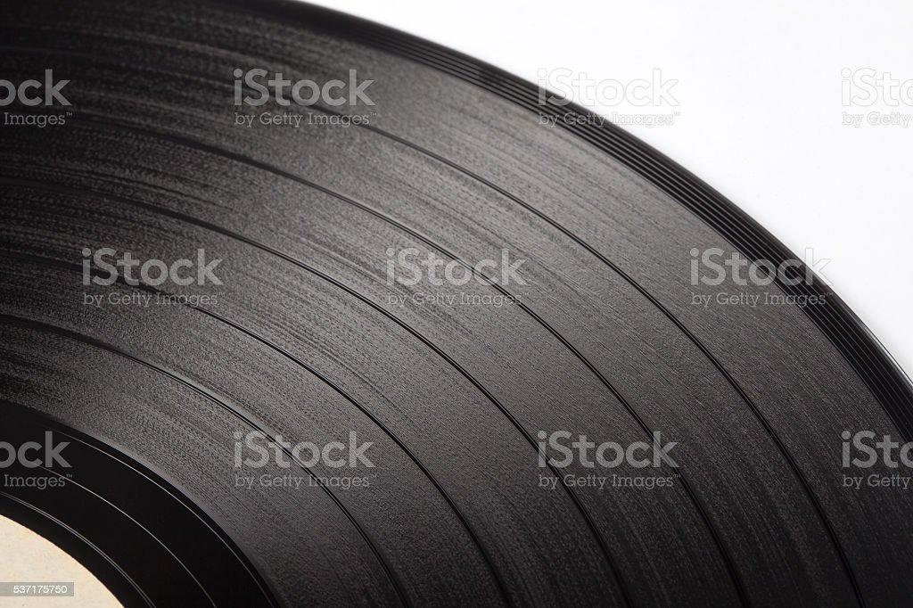 Segment of vinyl record stock photo