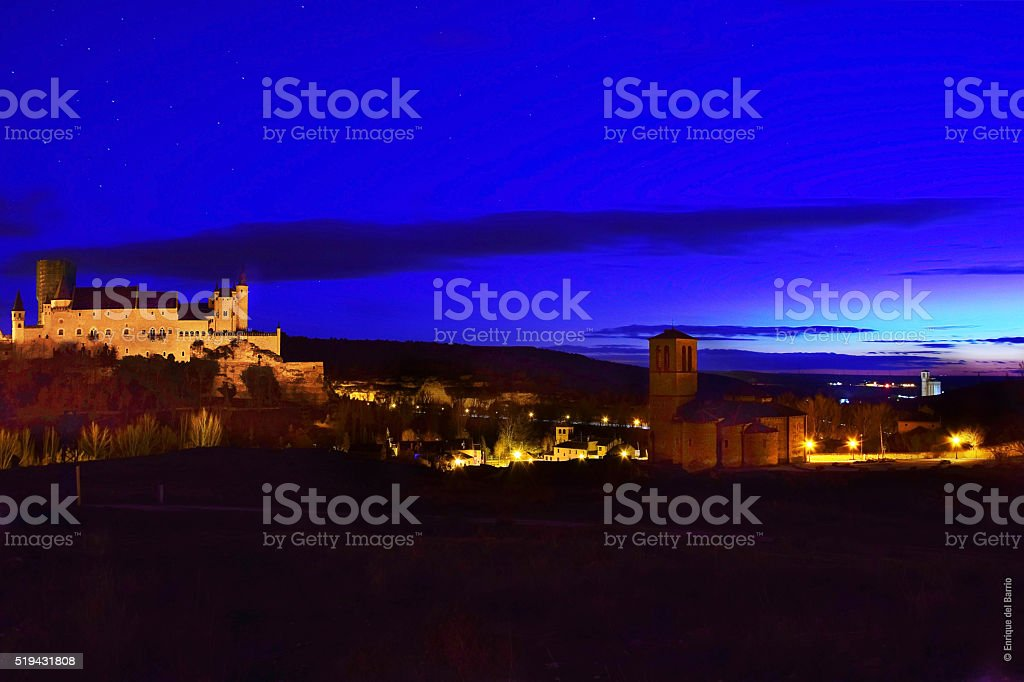 Segovia Anocheciendo stock photo