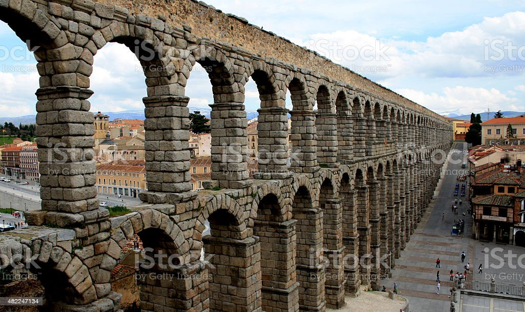 Segovia Aqueduct stock photo