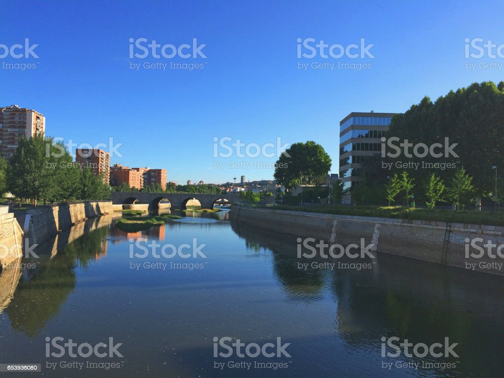 Segovia bridge stock photo