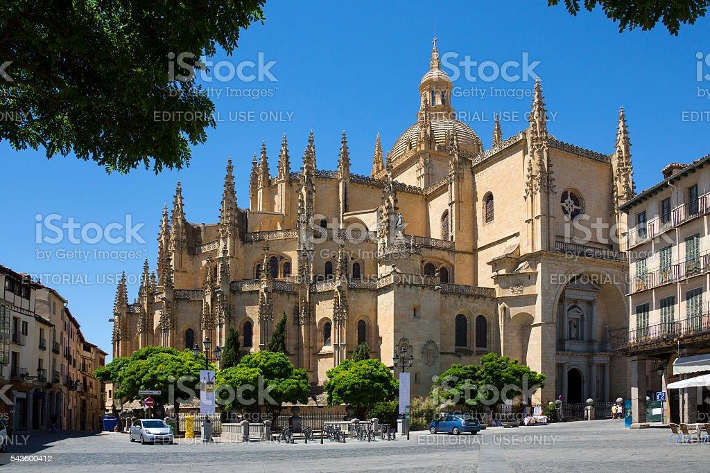 Segovia Cathedral - Castilla-y-Leon - Spain. stock photo