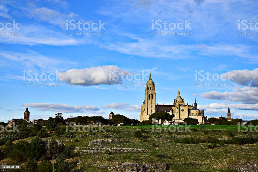 Segovia Cathedral / Catedral de Segovia stock photo