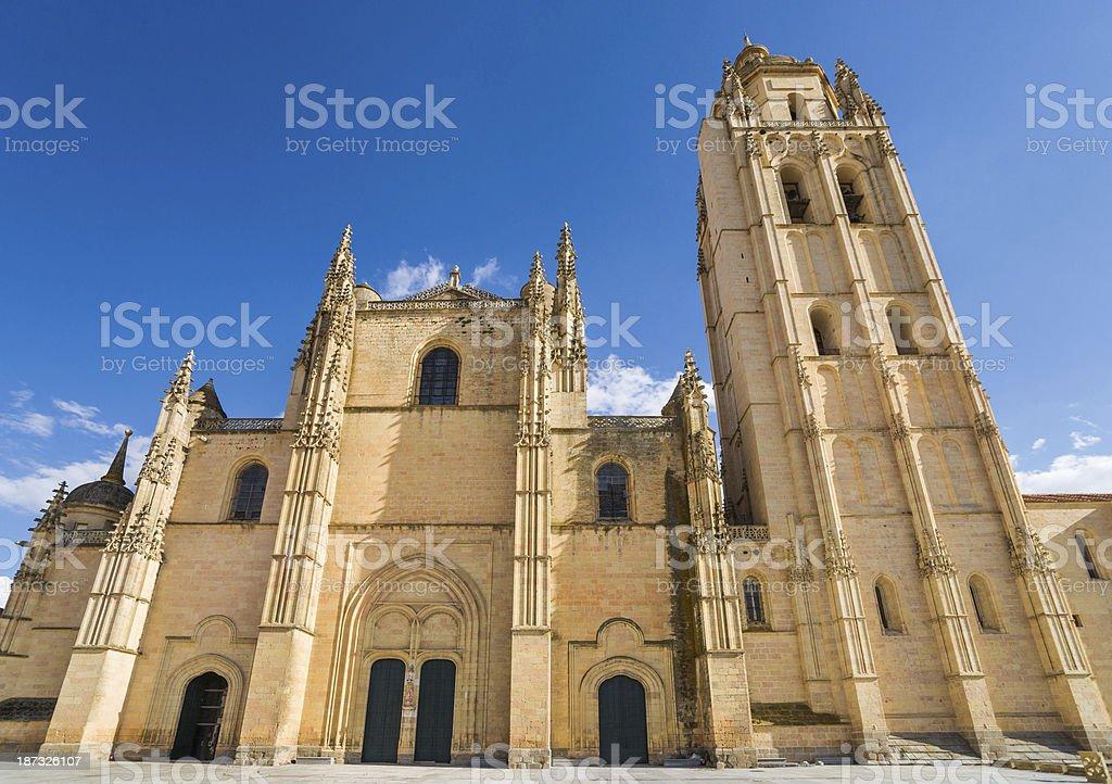 Segovia Cathedral in Spain stock photo