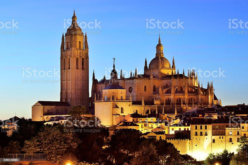 Segovia. Cathedral of Segovia. Castilla y León  (Spain) stock photo