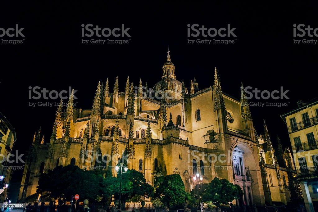 Segovia, cathedral stock photo