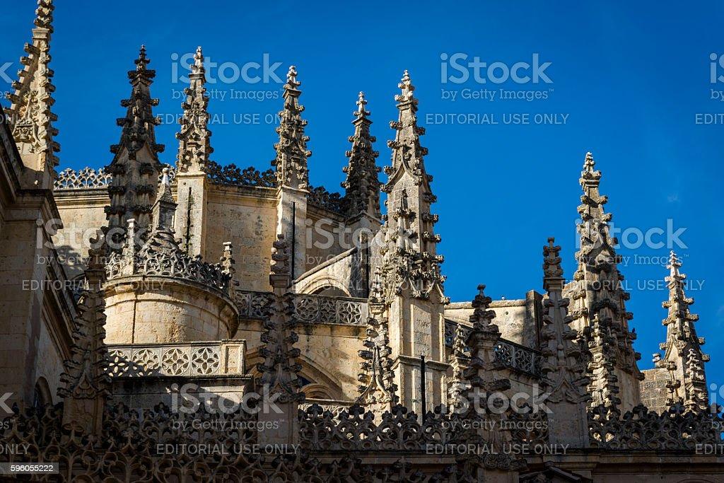 Segovia Cathedral, Segovia, Castilla y Leon, Spain stock photo