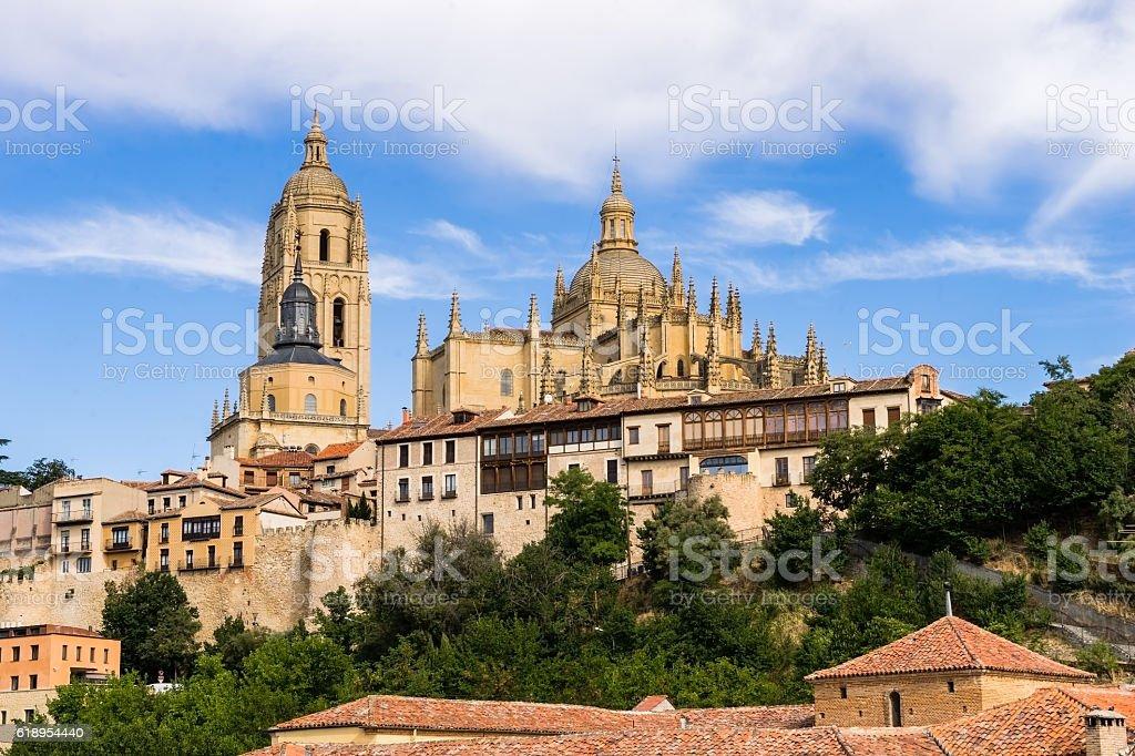 Segovia cathedral, Spain stock photo