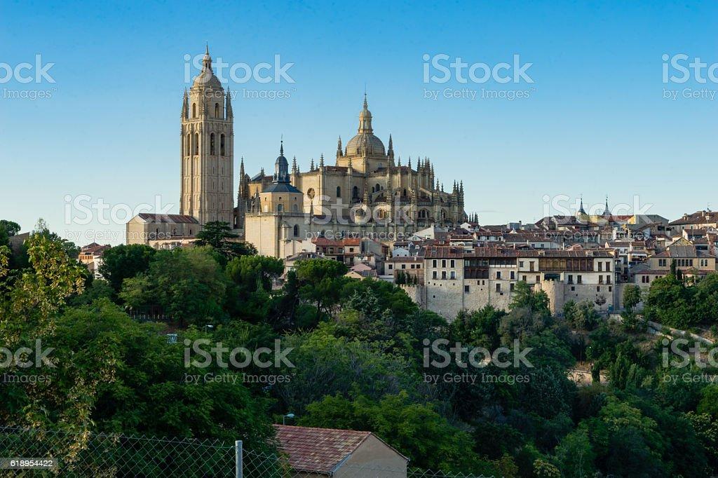 Segovia Cathedral,Spain stock photo