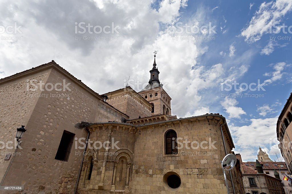 Segovia Church of San Martin stock photo