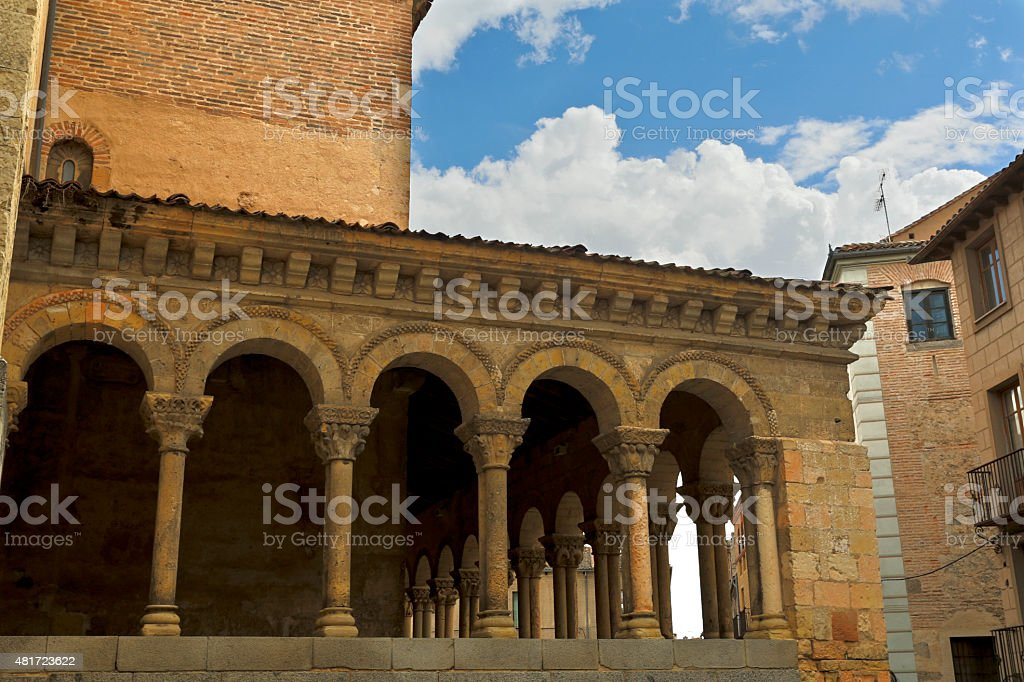 Segovia Church of San Martin stock photo