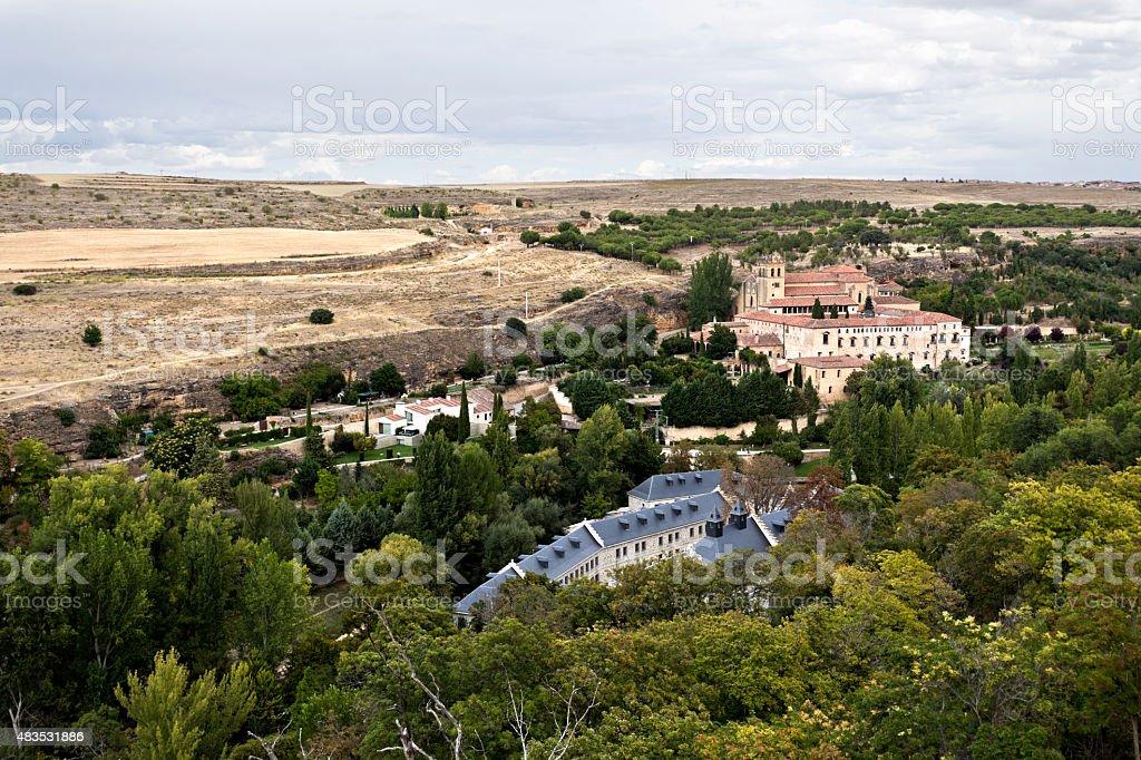 Segovia Monastery of Saint Mary of Parral stock photo